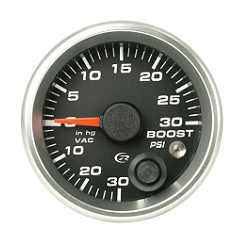 Revolution 2 5/8 Inch Boost - Vacuum Gauge 30inhg-30psi with Mem